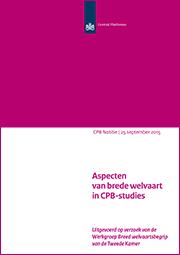 Image for Aspecten van brede welvaart in CPB-studies
