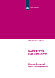 Image for AWBZ-premie over vier schijven