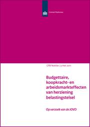 Image for Budgettaire, koopkracht- en arbeidsmarkteffecten van herziening belastingstelsel (JOVD-voorstel)