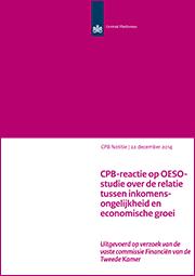 Image for CPB-reactie op OESO-studie over de relatie tussen inkomensongelijkheid en economische groei
