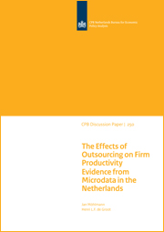 Image for The effects of outsourcing on firm productivity: Evidence from microdata in the Netherlands