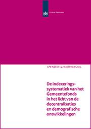 Image for De indexeringssystematiek van het  Gemeentefonds in het licht van de decentralisaties en demografische ontwikkelingen