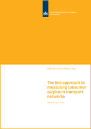 Image for The link approach to measuring consumer surplus in transport networks
