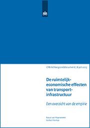 Image for De ruimtelijk-economische effecten van transportinfrastructuur: een overzicht van de empirie