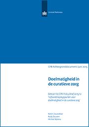 Image for Doelmatigheid in de curatieve zorg