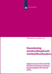 Image for Doorrekening standaardkoopkracht voorbeeldhuishoudens