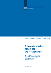 Image for A financial market model for the Netherlands: A methodological refinement