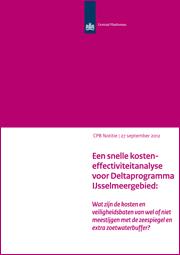 Image for Een snelle kosten-effectiviteitanalyse voor het Deltaprogramma IJsselmeergebied