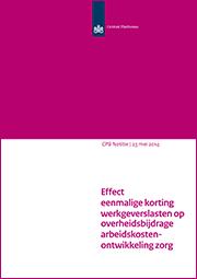 Image for Effect eenmalige korting werkgeverslasten op overheidsbijdrage arbeidskostenontwikkeling zorg