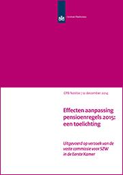 Image for Effecten aanpassing pensioenregels 2015: een toelichting