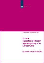 Image for Ex-ante budgettaire effecten tegenbegroting 2012 ChristenUnie