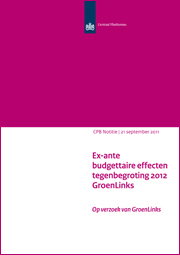 Image for Ex-ante budgettaire effecten tegenbegroting 2012 GroenLinks