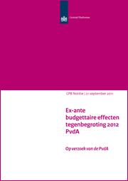 Image for Ex-ante budgettaire effecten tegenbegroting 2012 PvdA