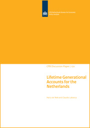 Image for Lifetime Generational Accounts for the Netherlands