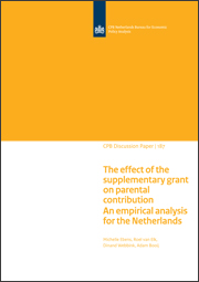 Image for The effect of the supplementary grant on parental contribution in the Netherlands