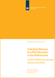 Image for Individual Returns to a PhD Education in the Netherlands: Income Differences between Masters and PhDs
