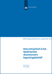 Image for Hoe anticyclisch is het Nederlandse discretionaire begrotingsbeleid?