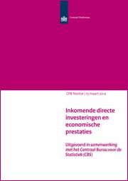 Image for Inkomende directe investeringen en economische prestaties