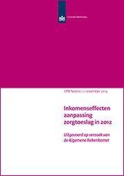 Image for Inkomenseffecten aanpassing zorgtoeslag in 2012