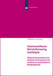 Image for Inkomenseffecten Wet Uniformering Loonbegrip