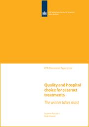 Image for Kwaliteit en ziekenhuiskeuze voor cataractoperaties: de winnaar krijgt het meeste