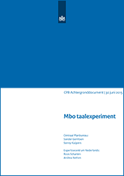 Image for Mbo taalexperiment