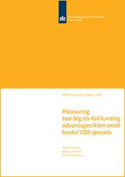Image for Meten van het too-big-to-fail financieringsvoordeel met de CDS spreads van kleine banken