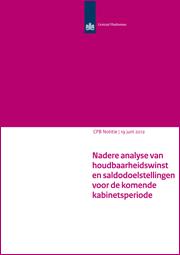 Image for Nadere analyse van houdbaarheidswinst en saldodoelstellingen voor de komende kabinetsperiode