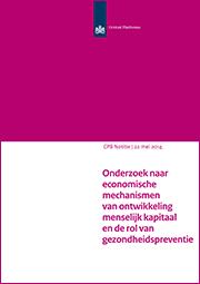 Image for Onderzoek naar economische mechanismen van ontwikkeling menselijk kapitaal en de rol van gezondheidspreventie