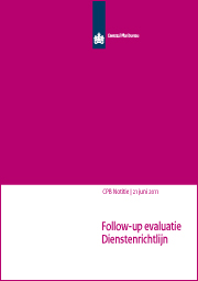 Image for Opties voor evaluatie van de Europese Dienstenrichtlijn