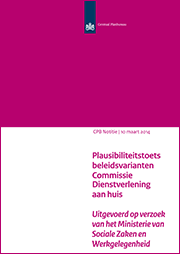 Image for Plausibiliteitstoets beleidsvarianten Commissie Dienstverlening aan huis