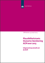 Image for Plausibiliteitstoets Outcome-berekening ACM over 2013