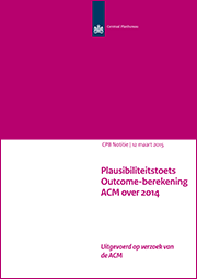 Image for Plausibiliteitstoets Outcome-berekening ACM over 2014