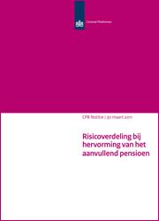 Image for Risicoverdeling bij hervorming van het aanvullend pensioen