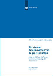 Image for Structurele determinanten van de groei in Europa