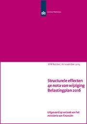 Image for Structurele effecten 4e nota van wijziging Belastingplan 2016