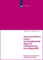 Image for Structurele effecten variant overdraagbaarheid algemene heffingskorting en verlaging IACK