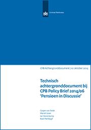 Image for Technisch achtergronddocument bij Policy Brief 2014-06 'Pensioen in Discussie'