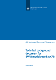 Image for Technical background document for BVAR models used at CPB