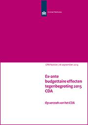 Image for Tegenbegroting 2015 van het CDA