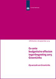 Image for Tegenbegroting 2015 van GroenLinks
