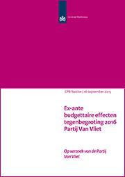 Image for Tegenbegroting 2016 Partij van Vliet