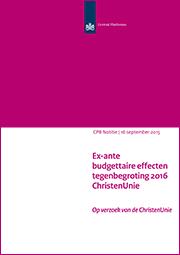 Image for Tegenbegroting 2016 van de ChristenUnie