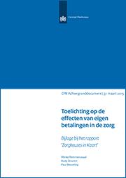 Image for Toelichting op de effecten van eigen betalingen in de zorg