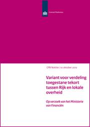 Image for Variant voor verdeling toegestane tekort tussen Rijk en lokale overheid