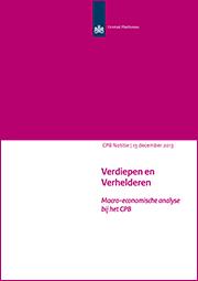 Image for Verdiepen en Verhelderen, Macro-economische analyse bij het CPB