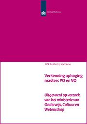 Image for Verkenning ophoging masters PO en VO