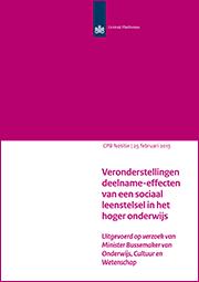Image for Veronderstellingen deelname-effecten van een sociaal leenstelsel in het hoger onderwijs