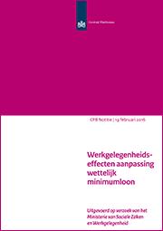 Image for Werkgelegenheidseffecten aanpassing wettelijk minimumloon