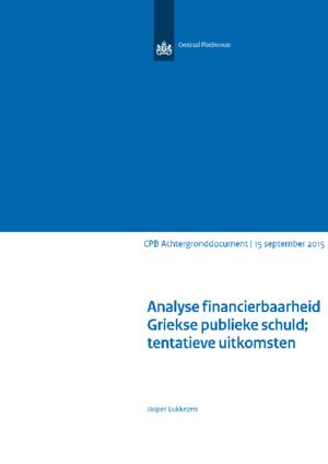 Analyse financierbaarheid Griekse publieke schuld; tentatieve uitkomsten